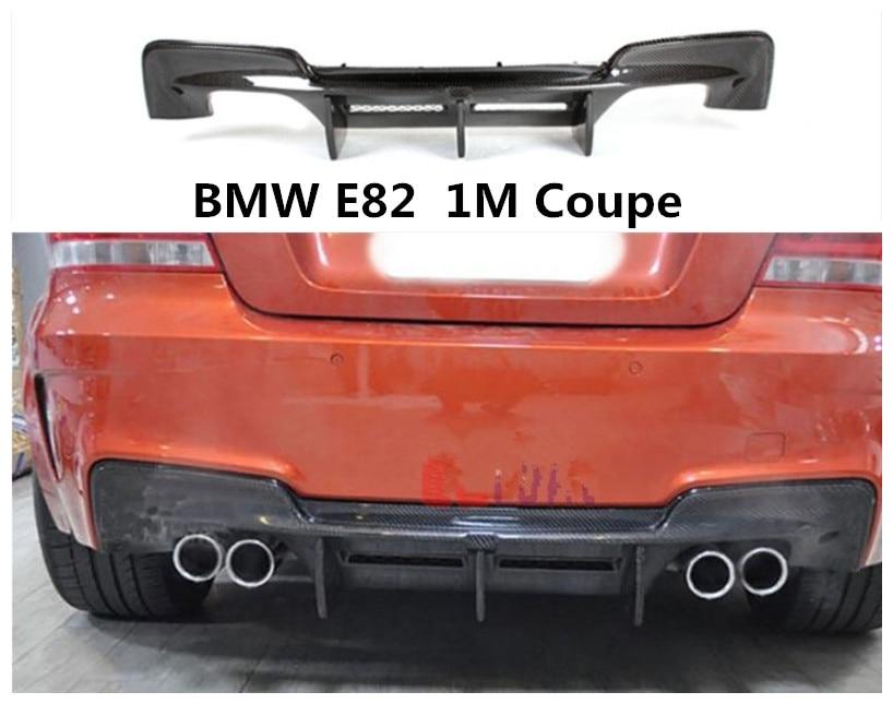 Para BMW E82 1M Coupe 2008-2018 alerón trasero difusor de parachoques de alta calidad Material de fibra de carbono accesorios de coche