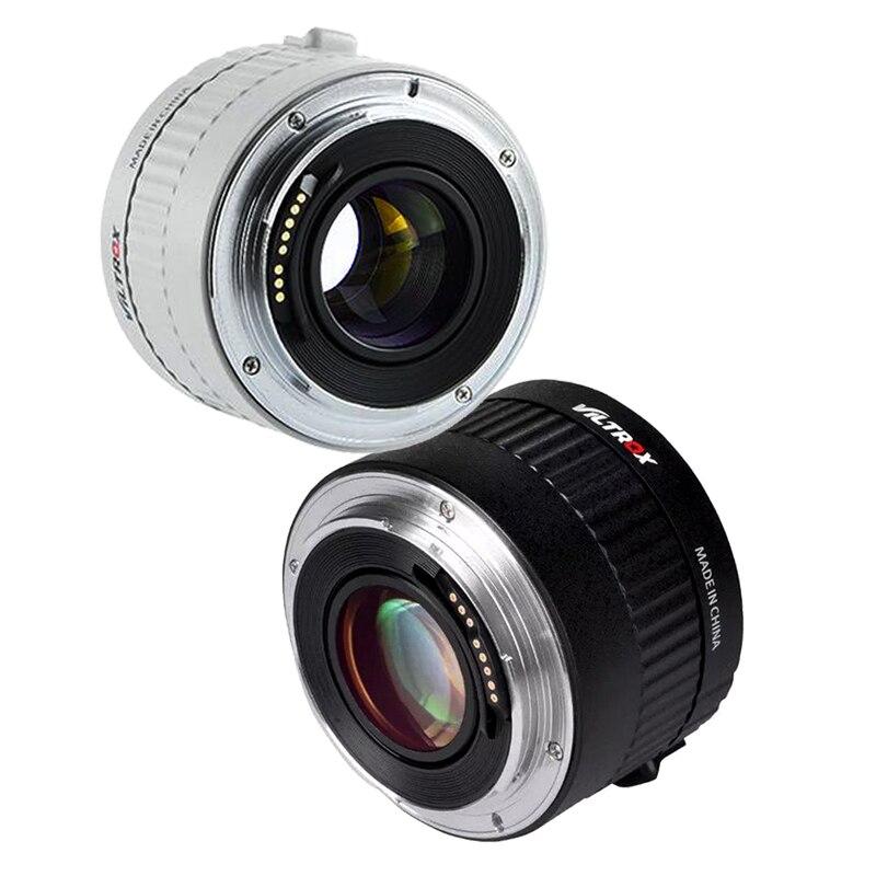 Viltrox C-AF 2X Auto Focus Teleconverter 2.0X extensor, convertidor de telefoto, lentes de cámara para Canon montura EF Lens DSLR Cámara