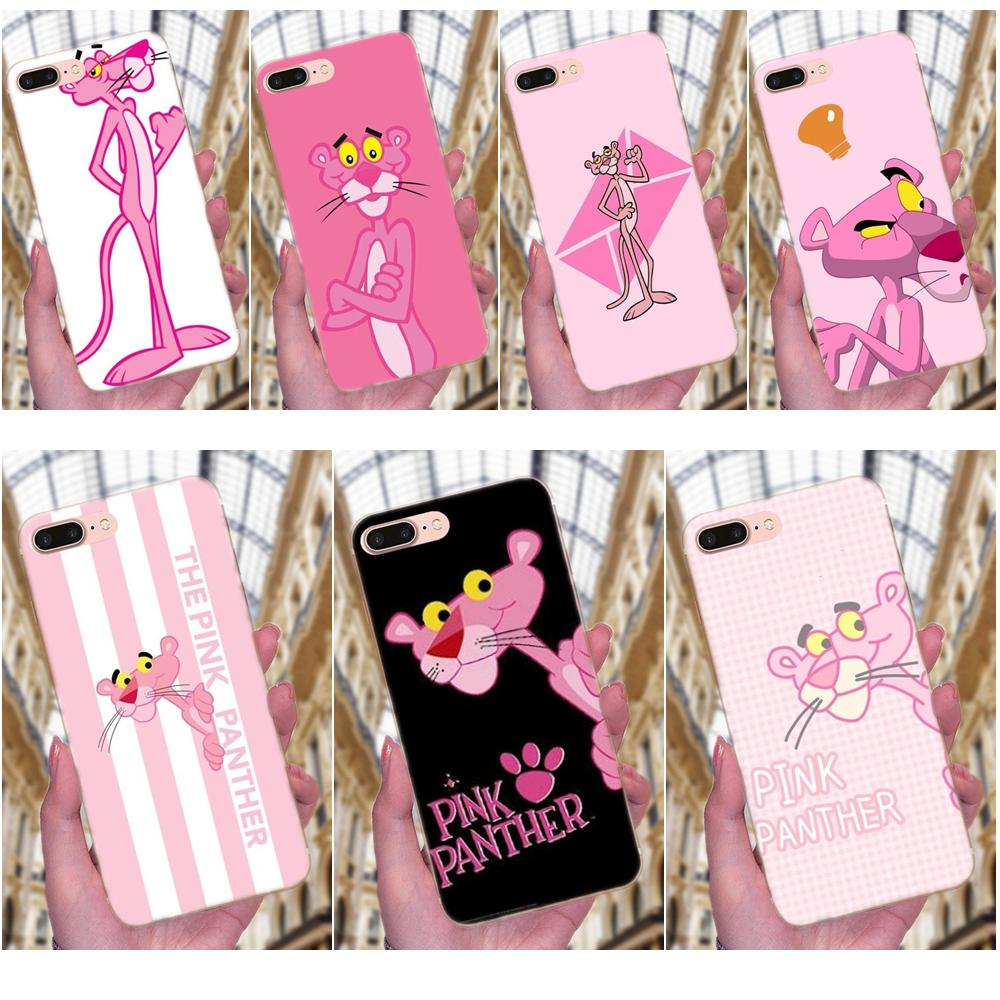 Protetor de telefone caso kawaii pantera rosa novo multi para galaxy j1 j2 j3 j330 j4 j5 j6 j7 j730 j8 2015 2016 2017 2018 mini pro