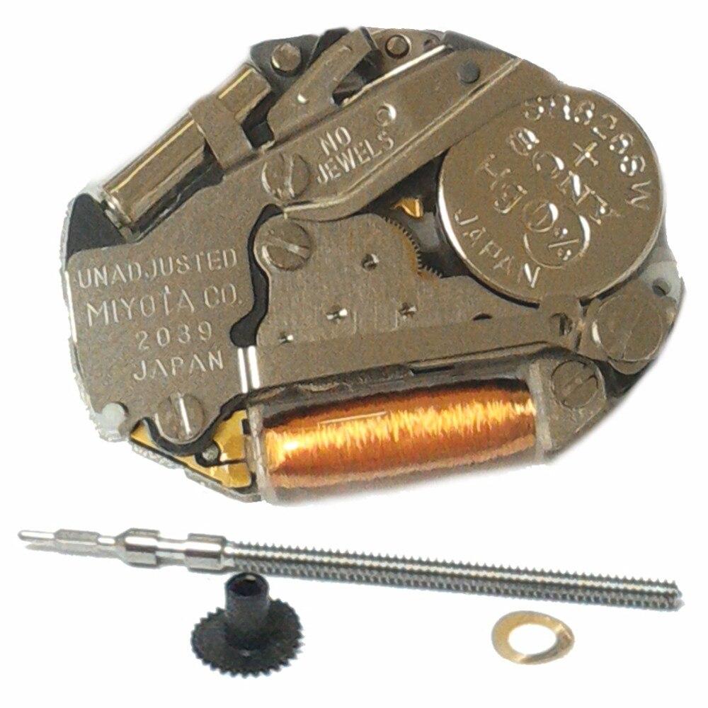 Venta al por mayor 20 piezas MIYOTA 2039 movimiento de reloj de cuarzo genuino
