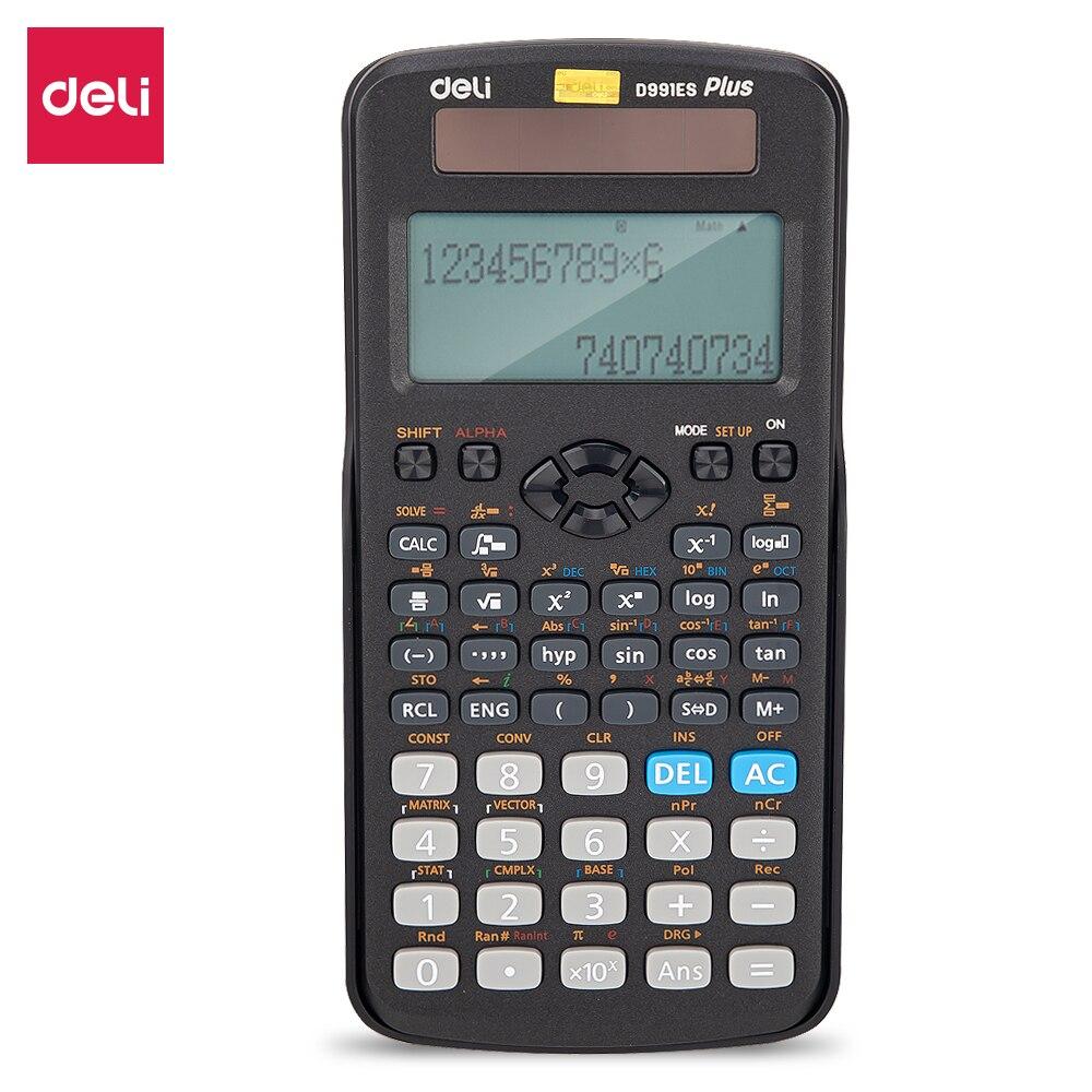 Estudante de Ensino Deli Calculadora Científica Função Padrão Engenheiro Calculadoras Médio Suprimentos Eletrônicos Calcu 991es 417