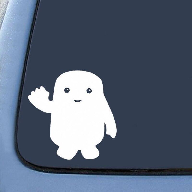 "2 uds 5,5 ""negro/blanco Adipose inspirado Doctor Who nota parachoques pegatina coche ventana calidad Premium troquelado vinilo calcomanía"