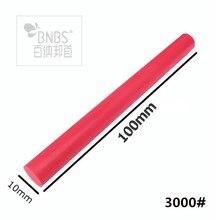 BNBS pierres rubis arrondies 3000 #   Pour laffûtage des couteaux, meulage fin, bâton abrasif de couleur rouge, 100mm longueur 10mm de diamètre