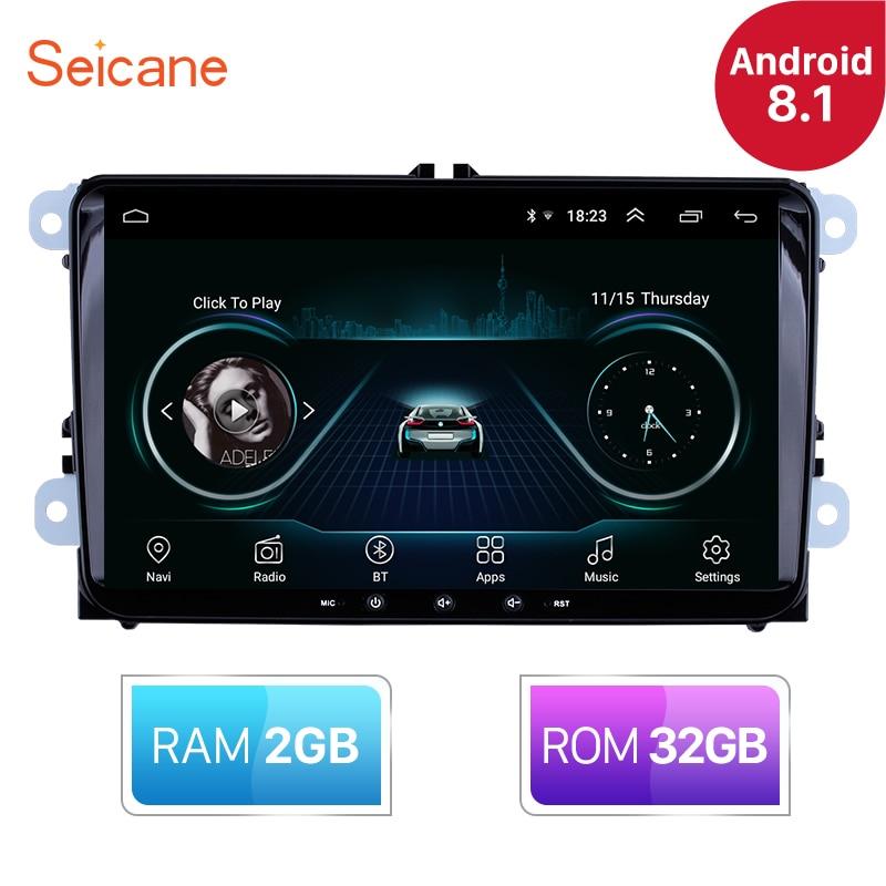 Seicane RAM 2GB ROM 32GB 9 inch Android 8.1 Car Radio GPS Multimedia player For VW/Volkswagen/Golf/Tiguan/Passat