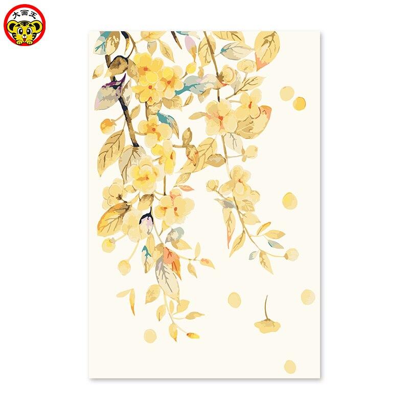 Pintura por números arte pintura por número Diy digital óleo dibujo pintado a mano foto moderna antigua retro paisaje puro otoño pájaro