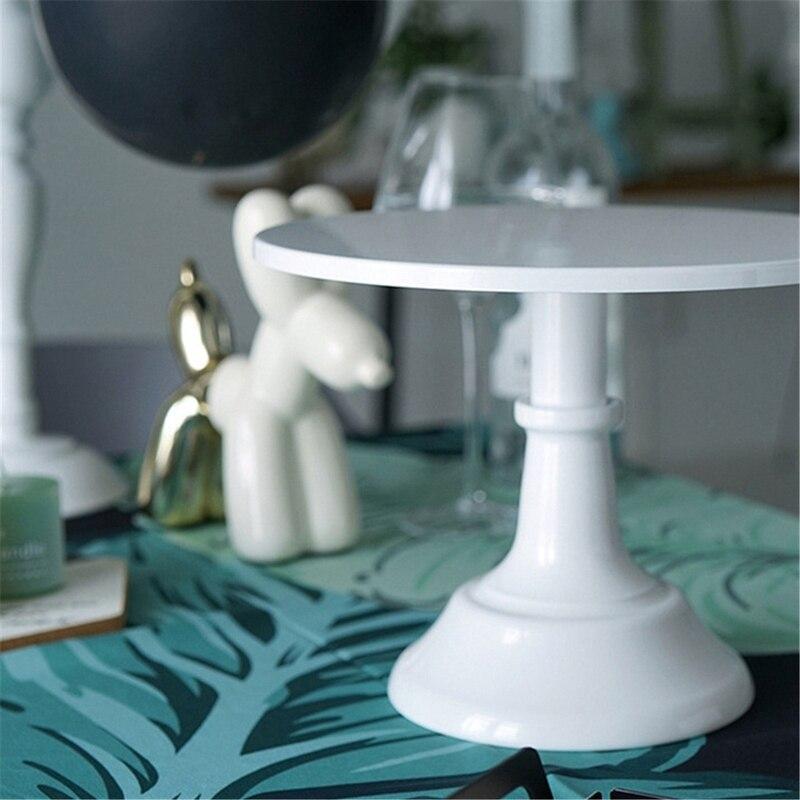 Металлическая настольная круглая подставка для десертов, демонстрационная стойка для кексов, белая посуда для украшения на день рождения, свадьбу-5