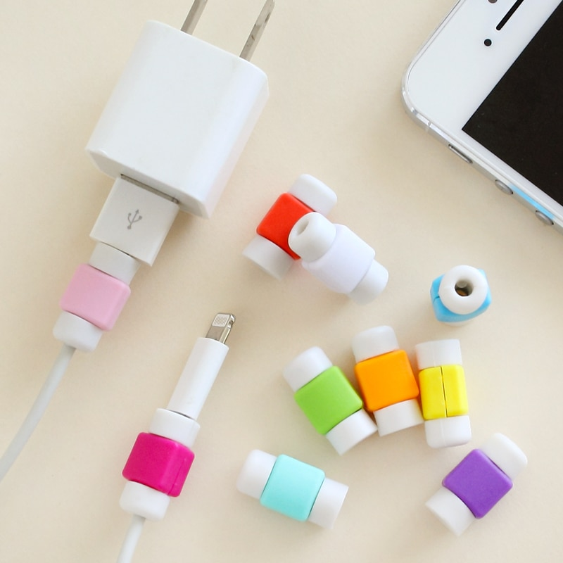 Хит продаж, Модный Новый USB кабель, защита для наушников, цветной чехол для Apple Iphone 4 5 6 Plus, для Android 6s, s6, note, кабели