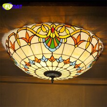 FUMAT vitrail plafonniers Baroque intérieur Art verre éclairages chambre luminaires décoratifs pour lampe de salon
