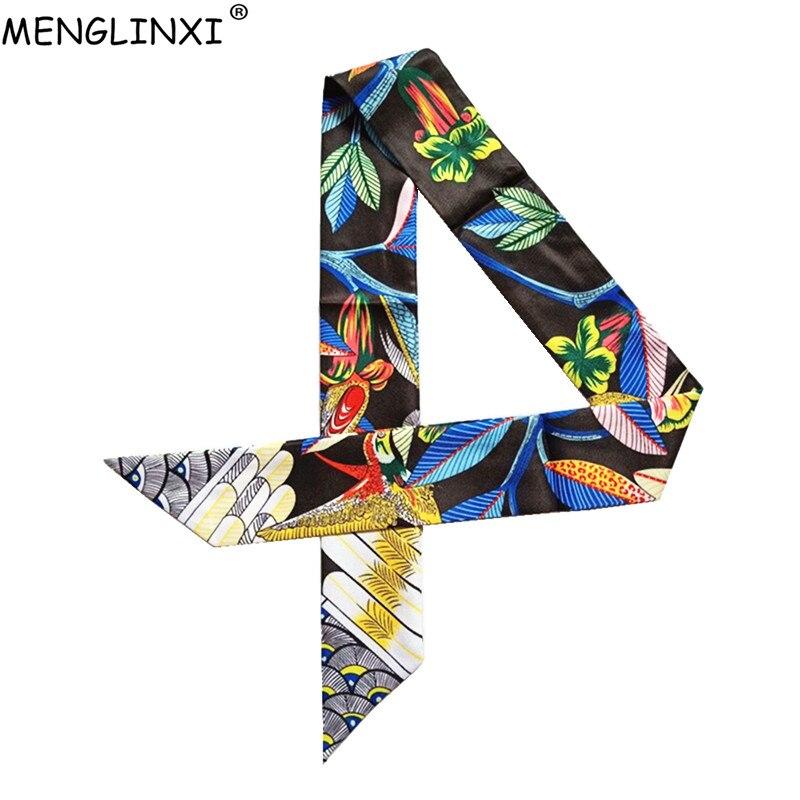 Foulard en soie fine imprimé colibri pour femmes, marque de luxe