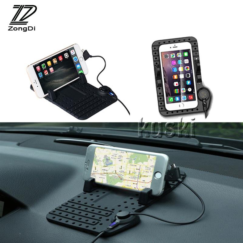 ZD 1 Uds. Para Hyundai Tucson 2017 Solaris ix35 i30 Suzuki Swift Mitsubishi ASX Mazda 3 6 cargador de coche, soporte de teléfono antideslizante
