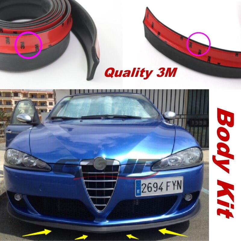 Lyudmila para Alfa Romeo 147/GTA AR labio del parachoques del coche/hacer el Kit del Cuerpo inferior del coche alerón de la falda delantera trasera/tira de goma deflectora