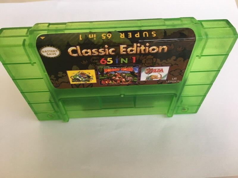 65 IN Game card - Game Cartridge 16 Bit SNES Action Game Card US Version  English Language