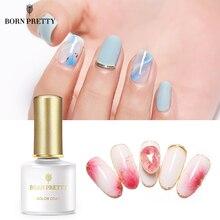 BORN PRETTY 6ml White Clear Cream Bloom Gel Polish Soak Off UV Gel Nail Varnish Nail Art  DIY Design