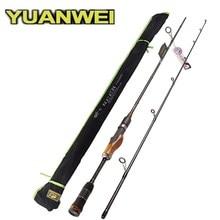 YUANWEI 2Secs manche en bois tige De filature 1.98m 2.1m 2.4m ML/M/MH carbone leurre cannes à pêche Vara De Pesca Peche Olta canne à pêche