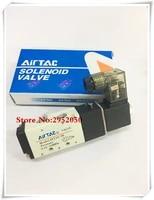 free shipping pneumatic airtac solenoid air valve 5 port 2 position 25 way 18 bsp 4v110 06 with wire dc 12v 24v ac110v 220v