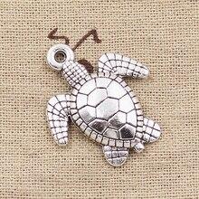 3pcs Charms Tortoise Turtle Sea 26x23mm Antique Making Pendant fit,Vintage Tibetan Silver color,DIY Handmade Jewelry