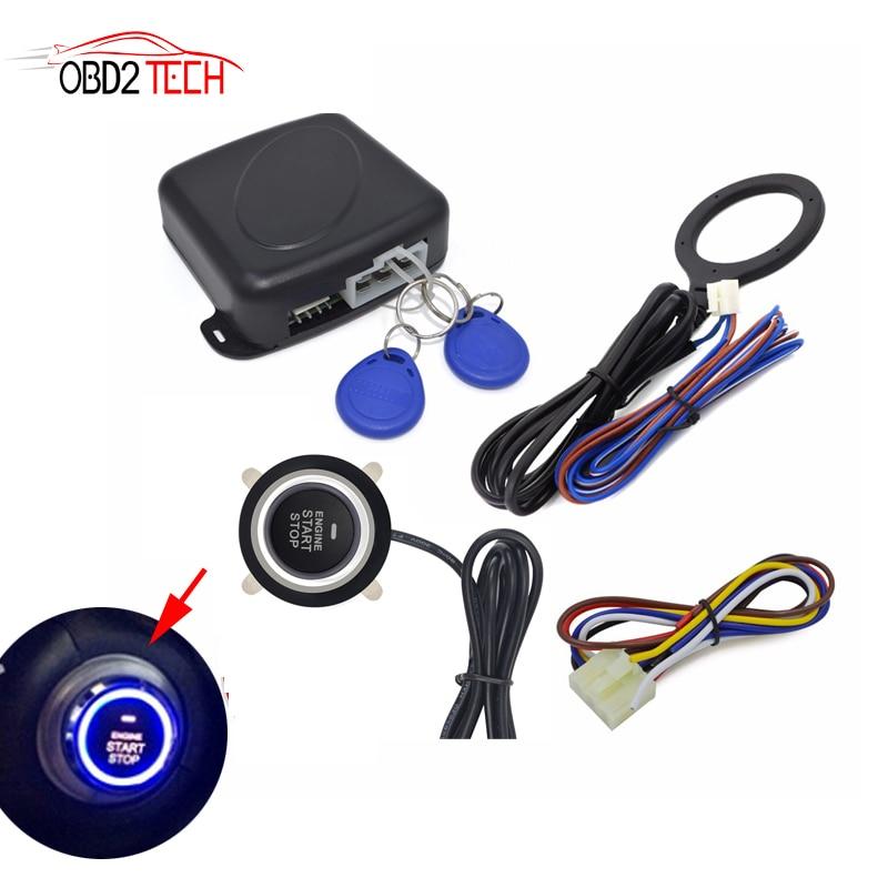Auto Car Alarm Engine Starline Push Button Start Stop RFID Lock Ignition Switch Keyless Entry Anti-theft System Starter