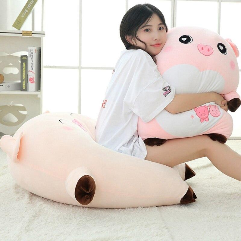 25/40/60CM regalo creativo del Día de San Valentín para enviar a niñas almohada de cerdo Rosa muñeco de cerdo de expresión juguete de felpa cojín de decoración del hogar