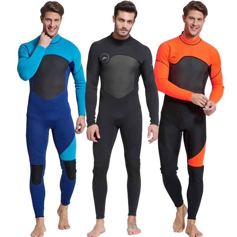 2020 High Quality New 3mm Cool Black Diving Triathlon Neoprene Wetsuit for Swimming Surf Men Scuba Equipment Split Suits M-3XL