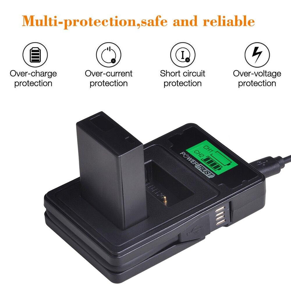 1PC EN-EL20 batterie de caméra EN-EL20A + LCD USB double chargeur avec Port de Type C pour Nikon Coolpix P1000 Nikon1 J1, J2, J3 Nikon1 AW1