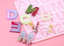 1=36 Crystal Epoxy English letter Pinyin Alphabet Silicone Mould DIY Handmade Jewelry Resin Digital Pendant Pendant Mode