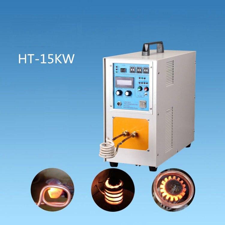 فرن صهر المعادن عالي التردد 220 فولت 15 كيلو وات ، آلة التسخين بالحث ، معدات التبريد المعدنية عالية التردد للحام