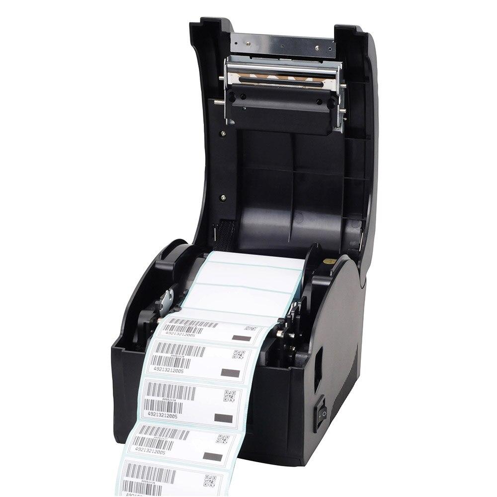 Imprimante détiquettes dimprimante de code barres dimprimante dautocollant thermique de port dusb de haute qualité pour le supermarché, magasin de thé de lait, restaurant