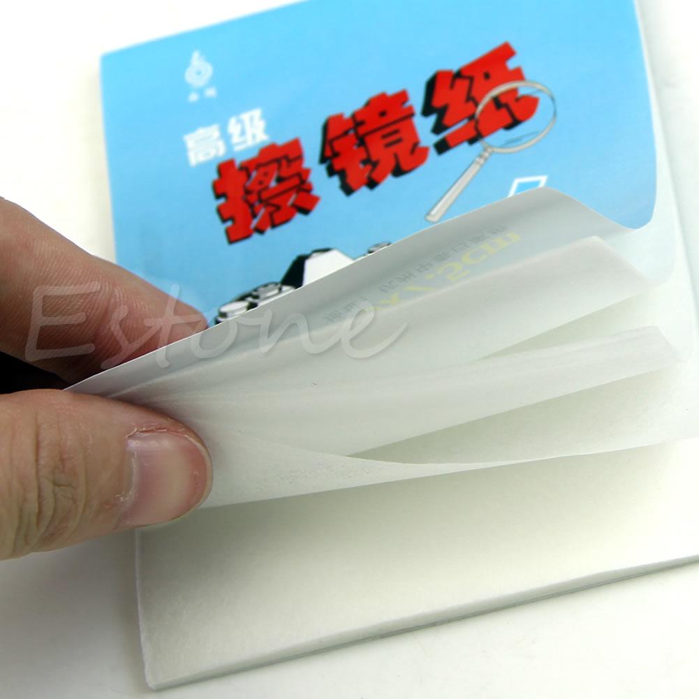 1pc 100 sheets soft laboratory lens wipes paper microscope wipe paper glass lens optics tissue cleaning paper 10x15cm 1pc 50 Sheets Soft Camera Lens Optics Tissue Cleaning Clean Paper Wipes Booklet