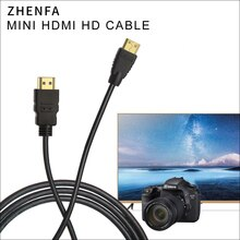 Zhenfa 1.5 M 3 M 5 M Mini HDMI HDMI kablosu için nikon kamera DSLR D5300 D7000 D90 D600 D800 D800E D3100 d3200 D3300 D5100 D5200