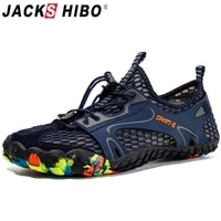 jackshibo men water shoes outdoor sport swimming shoes sea beach barefoot sneakers breathable upstream aqua surfing diving shoes