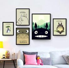 Miyazaki-film danimation affiche séries Totoro   Peinture décorative noyau de peinture pour décoration de maison denfant