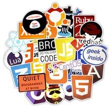 50 pcs Etiqueta da Linguagem de Programação Java Html APP Software Programa de Adesivos para o Totó PS4 Telefone DIY Computador Portátil Macbook