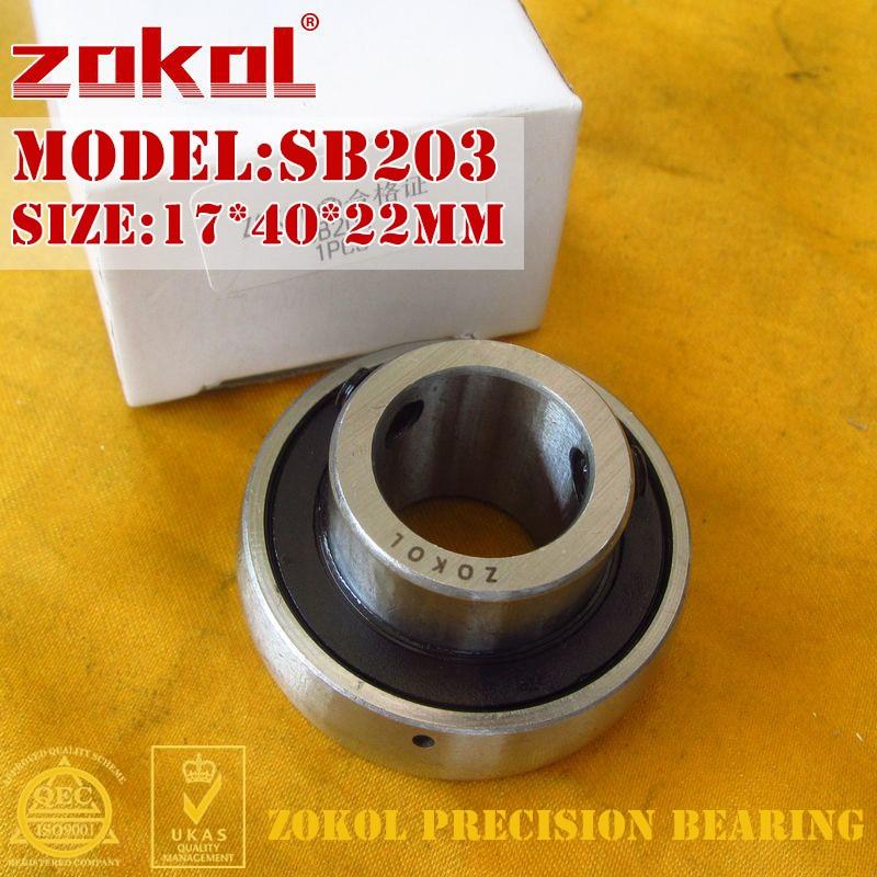 Zokol rolamento sb203 90203 rolamento de esferas do bloco de descanso 17*40*22mm