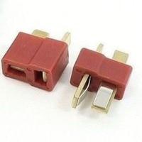 20 шт., 10 пар Т-образных штекерных и гнездовых разъемов в стиле Deans для аккумулятора RC LiPo ESC