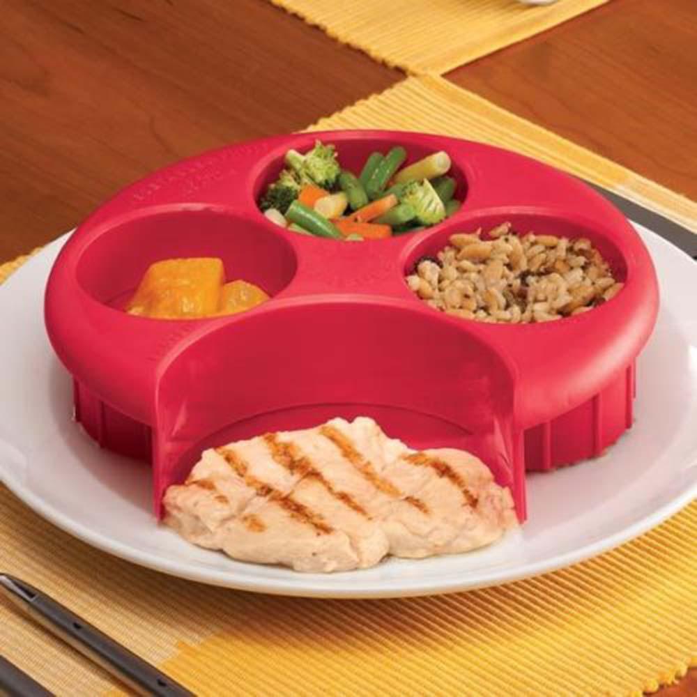 ¡Oferta! 1 Uds. Herramienta de medición de comida para perder peso, placa de Control de porciones de alimentos, placa de Control de porciones de dieta, administrar KC1052FS