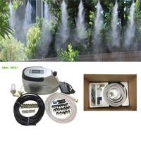 S185 Quiet 0.3L/min fog machine set with 10pcs nozzle mister 10pcs slip lock fittings 15M hose for patio cooling misting system