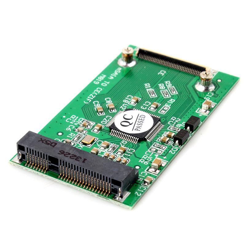 חדש מיני PCI-E mSATA SSD כדי 40pin ZIF CE כבל מתאם כרטיס #55353