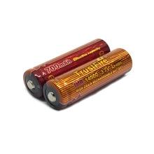 2 PCS/LOT Batteries rechargeables au Lithium-ion à haut débit pour torche de lampes de poche LED trust fire IMR 14500 3.7V 700mAh
