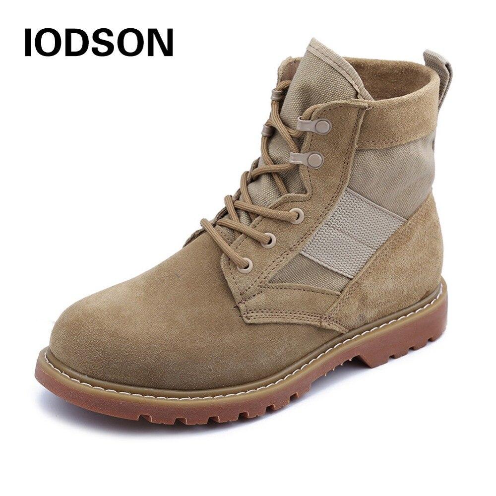 IDS-681D للماء الجيش التمهيد الرجال الأحذية العسكرية التكتيكية القتالية الأحذية تنفس الشتاء/الصيف الصحراء الأحذية Size35-46