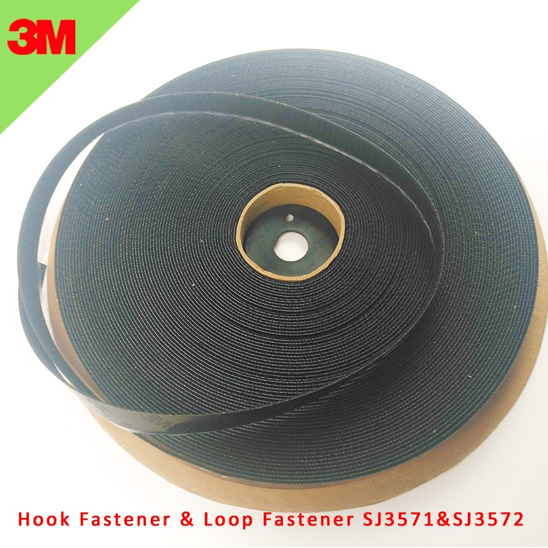 1IN*50Y 100% original 3M SJ3571 and SJ3572 Reclosable Fabric High Performance Acrylic Adhesive hook and loop 3M Fastener tape