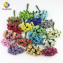 Bouquet de fleurs artificielles mini bourgeon   144 pièces, pour boîte de mariage, corsage décoration, artisanat bricolage, couronnes de fleurs artificielles