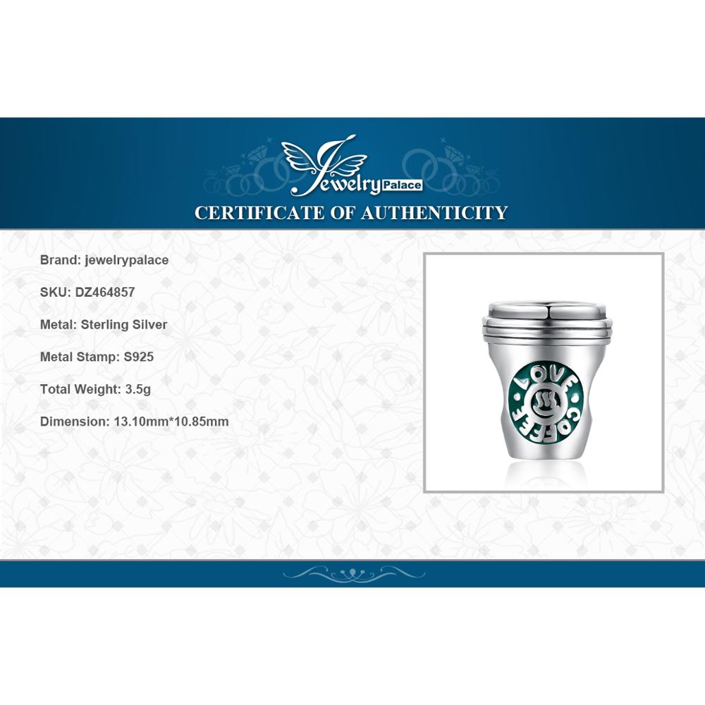 Купить с кэшбэком JewelryPalace Coffee Cup 925 Sterling Silver Beads Charms Silver 925 Original For Bracelet Silver 925 original Jewelry Making