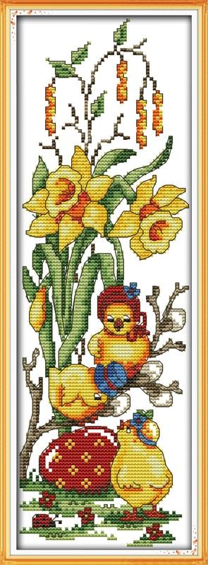 Schöne huhn (1) gezählt gedruckt auf stoff DMC 14CT 11CT Kreuzstich kitsembroidery handsets Wohnkultur