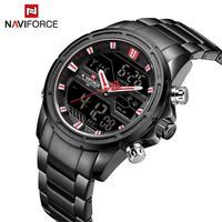 NAVIFORCE Men Sports Watches Fashion Luxury Brand Men's Quartz Digital Steel Waterproof Military Wrist Watch Relogio Masculino