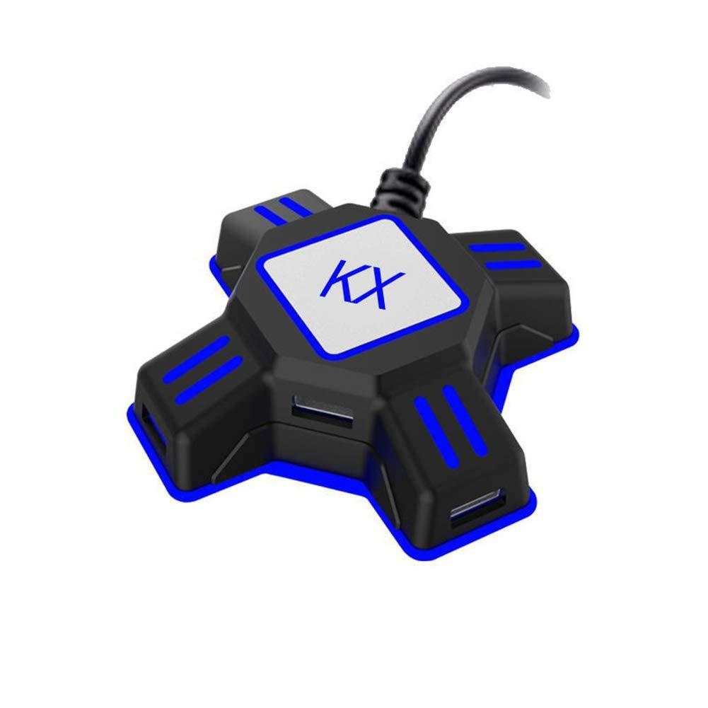 Adaptador de ratón y teclado BEESCLOVER para Switch/Xbox/PS4/PS3 KX 4 puertos USB controlador convertidor r60