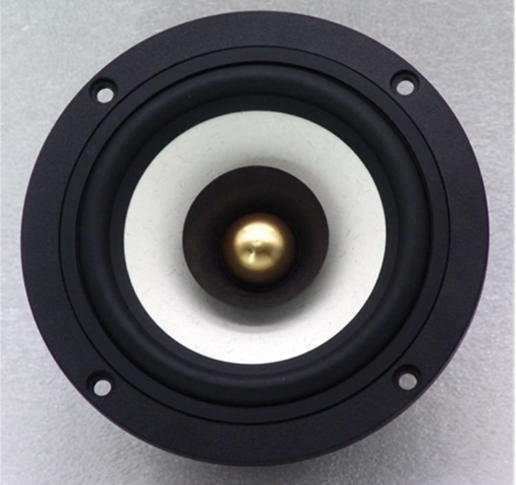 2 Pieces New Aucharm 4'' DG-403 Full Range Speaker Driver Casting Aluminum Frame IIR Surrouding Mixed Paper Cone 4/8ohm 25W enlarge