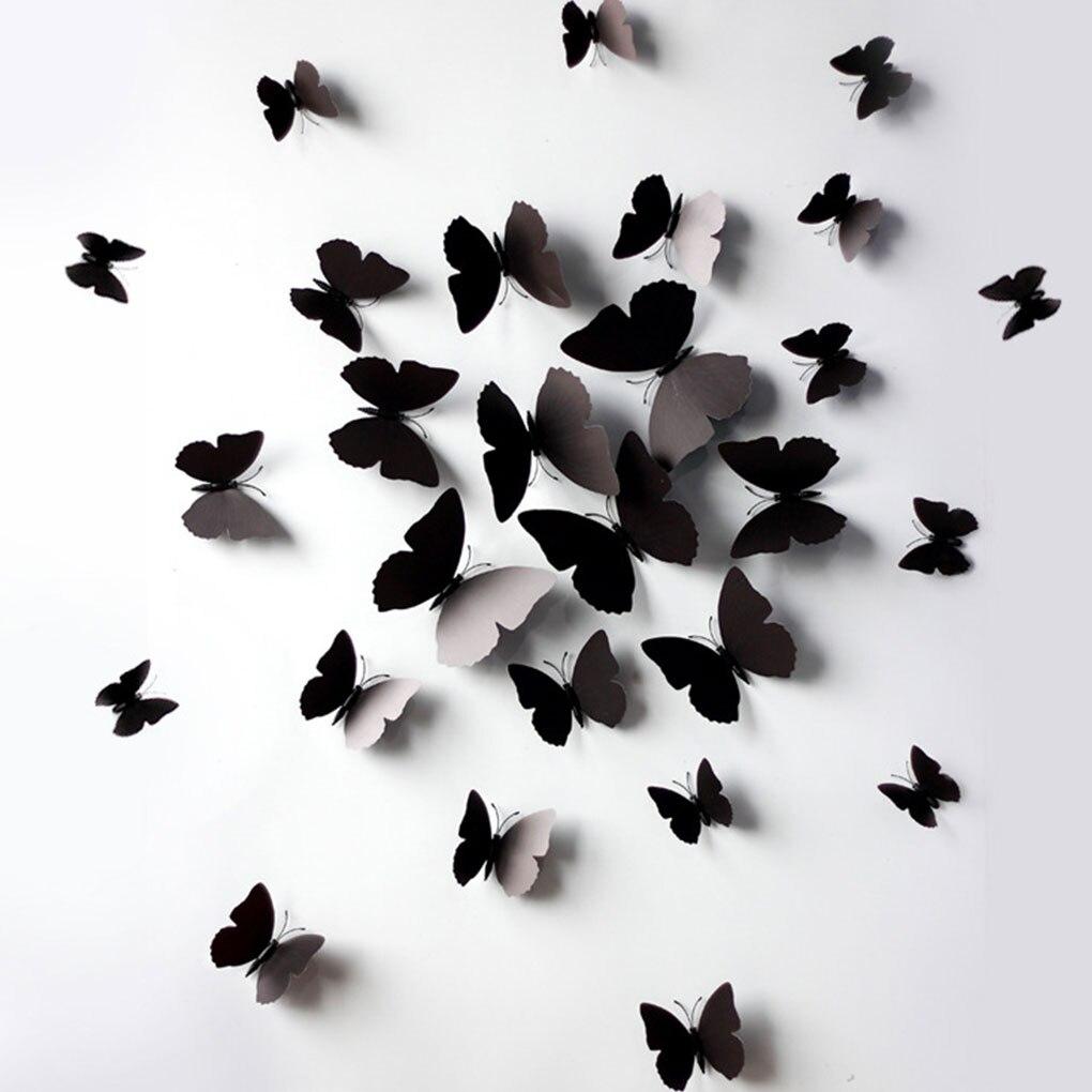 12 pçs 3d realista broche borboleta cortina decoração tatuagem decoração casamento geladeira ornamentos