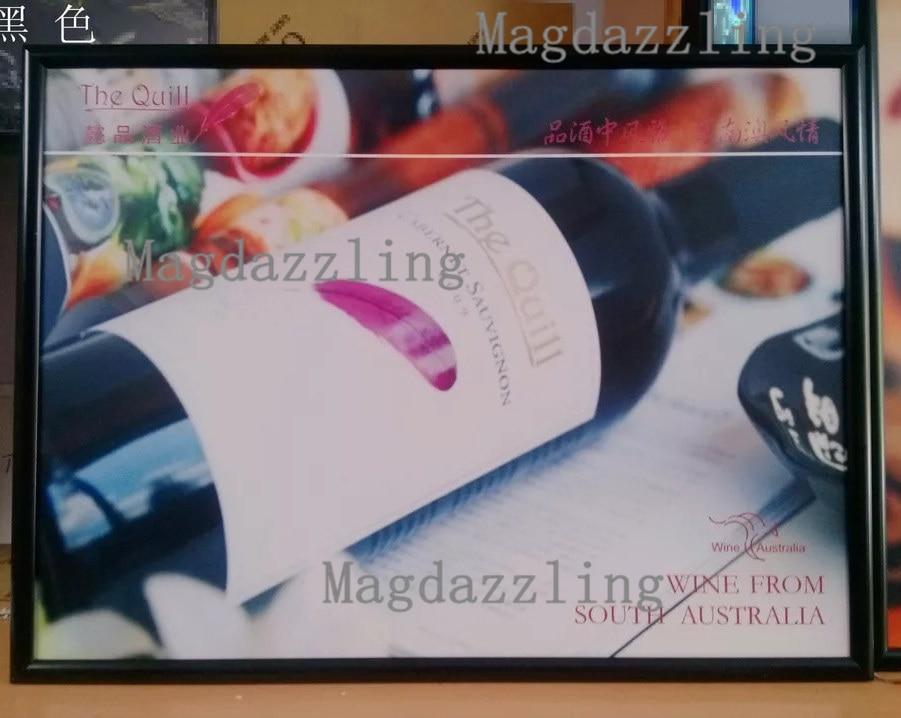 Ultra Slim Black Curved Aluminum Frame LED Edge-lit Menu Boards Restaurant A2 Light Boxes