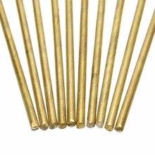 10 pièces en laiton baguettes de soudage fils bâtons 1.6mm diamètre 250mm longueur pour brasage soudure outils de réparation