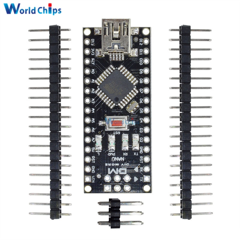 10 قطعة/الوحدة البسيطة USB نانو 4.0 atmega328 Atmega328P تحكم لاردوينو ATMEGA328P-AU PL2303TA 5 V 16 M لوحة تركيبية مع دبابيس